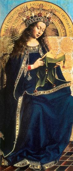 Jungfrau Maria mit Kind vor einer weiten Landschaft
