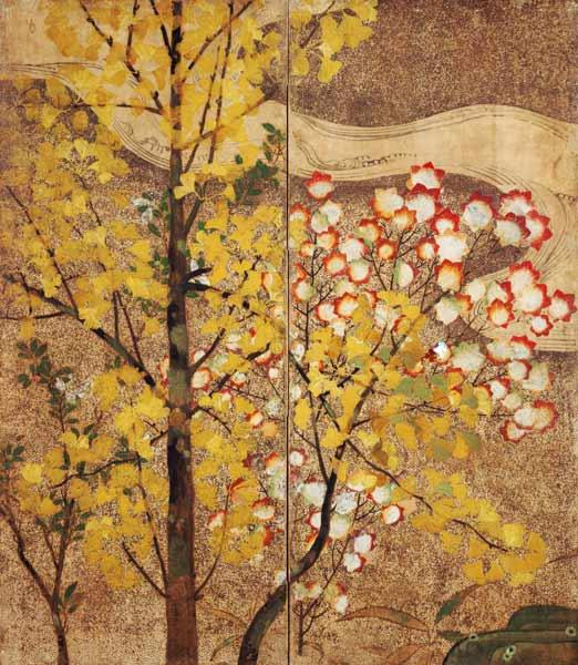 Autumn Tree (painted silk)
