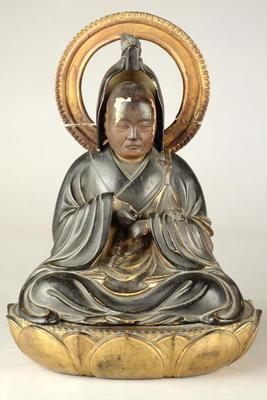 Buddhist abbot (lacquered wood)
