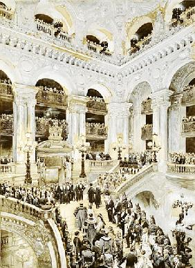 Inauguration of the Paris Opera House, 5th January 1875, 1878 (w/c & white on paper)