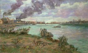 The Confluence of the Seine and the Marne at Ivry (oil on canvas)