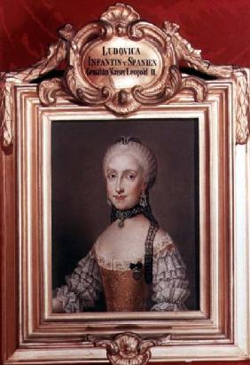 Infanta Maria Ludovica daughter of Charles III of Spain and wife of Leopold II (1747-92) Holy Roman
