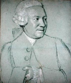 Portrait of a Man Holding a Book (black, white and red