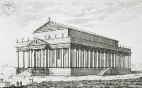 The Temple of Diana at Ephesus, Turkey, from 'Entwurf einer historischen Architektur'