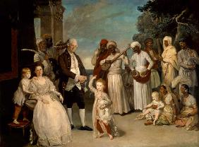 Sir Elijah and Lady Impey and Their Three Children