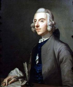 Portrait of Michael Arne (1740-86), composer and keyboard player