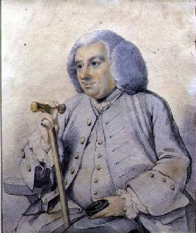 Sketch of the Portrait of Andrew Drummond (1688-1769) founder of the bank, killed at Culloden  on