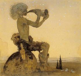 A Fairy Shepherd, 1910 (w/c on paper)