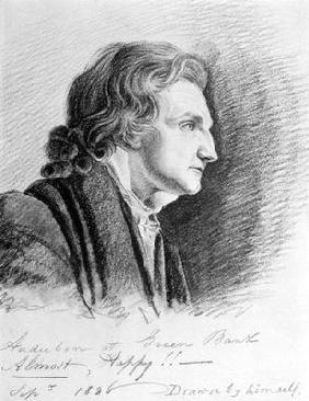 Self Portrait, 1826 (pencil on paper)