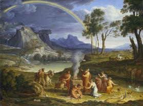 Landscape with Noah, Offering a Sacrifice of Gratitude