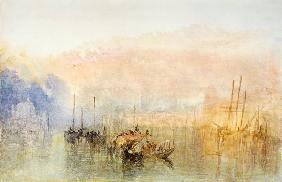 Turner / Venice, Entrance to Grand Canal - William Turner