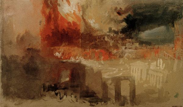 W.Turner / The Burning of Rome