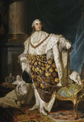 Louis XVI (1754-93) King of France in Coronation Robes
