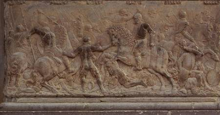 Bas relief panel juan de orea als kunstdruk of als - Muur reliefpaneel ...