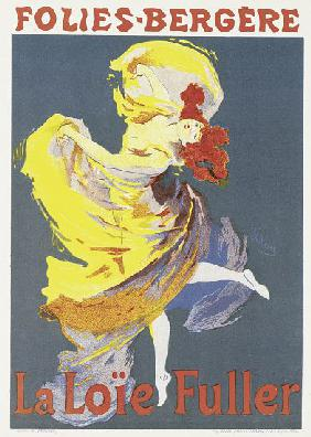Poster advertising a dance performance by Loie Fuller at the Folies-Bergere