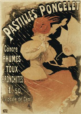 Advertising Poster for Pastilles Poncelet