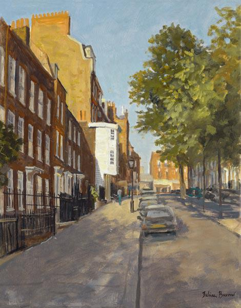 Church Row, Hampstead (oil on canvas)