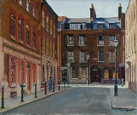 Princelet Street, Spitalfields (oil on canvas)