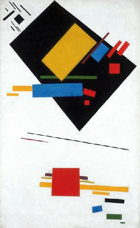 Suprematist painting (Black Trapezoid and Red Square)