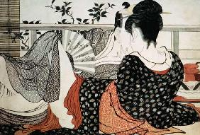Lovers from the 'Poem of the Pillow', ('Uta makura')
