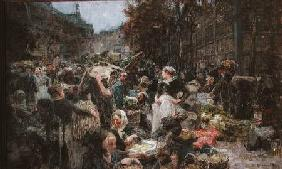 Les Halles, study for a painting for the Salon des Lettres at the Hotel de Ville, Paris