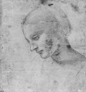 Head of a Young Woman or Head of the Virgin