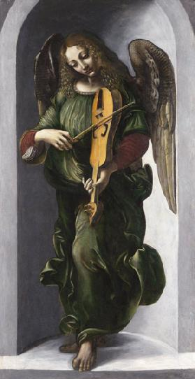 An Angel in Green with a Vielle