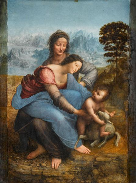 The Virgin and Child with St Anne