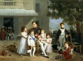 Portrait of Napoleon Bonaparte (1769-1821) with his Nephews and Nieces on the Terrace at Saint-Cloud