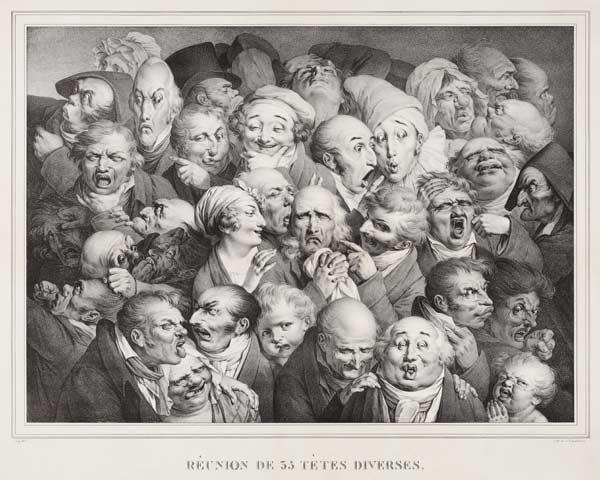 Group of Thirty-Five Heads
