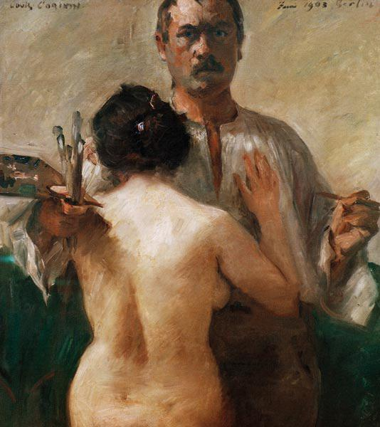 Self-portrait with nude