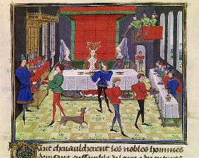 Ms 5073 f.140v The Marriage of Renaud of Montauban and Clarisse