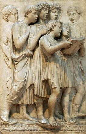 Singing angels, detail from the Cantoria
