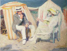 Conversation on the Beach