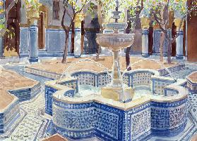 The Blue Fountain, 2000 (w/c on paper)