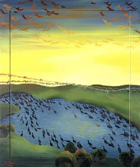 1956, 1988 (oil on canvas)