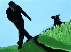 Whistling Him Back, 1997 (acrylic on canvas)