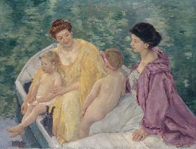 Le Bain (Two mothers and their children in a boat)