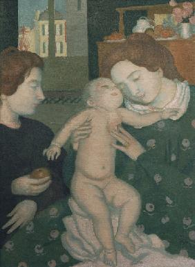 Mother and Child with Apple.