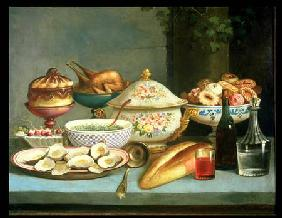 Still life with Soup and Oysters