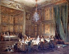 Dinner of the Prince of Conti (1717-76) in the Temple