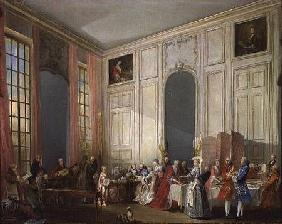 The English Tea (le The a l'Anglaise) and a Society Concert at the house of the Princesse de Conti,