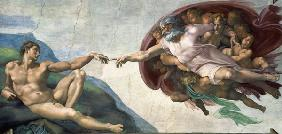 schepping van adam , Michelangelo