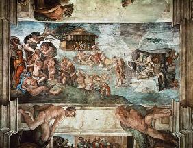 Sistine Chapel Ceiling: The Flood