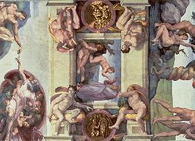 an analysis of the paintings and works of art in the sistine chapel by buonarroti and michelangelo Michelangelo and the sistine chapel ceiling one of the most famous paintings on the sistine chapel's this is a repetitive theme in michelangelo's works.