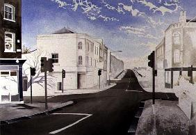 Early Winter Morning at the Traffic Lights, 1998 (w/c on paper)