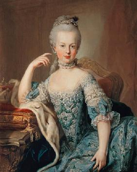 Archduchess Marie Antoinette Habsburg-Lotharingen (1755-93), fifteenth child of Empress Maria Theres