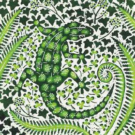 Green Gecko, 2002 (woodcut)