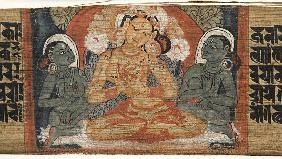 Folio 2r Goddess Prajnaparamita, from the 'Astasahasrika Prajnaparamita'