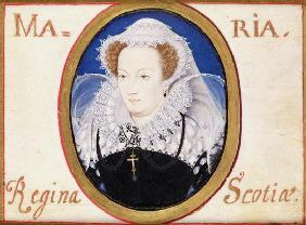 Mary Queen of Scots (1542-87) (gouache on vellum)